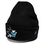 Шапка NHL San Jose Sharks с отворотом